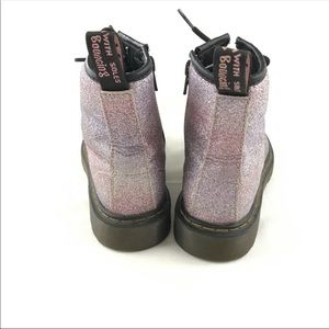 Dr. Martens Shoes - Dr Martens Girls Size 3 DELANEY GLITTER ZIP UP